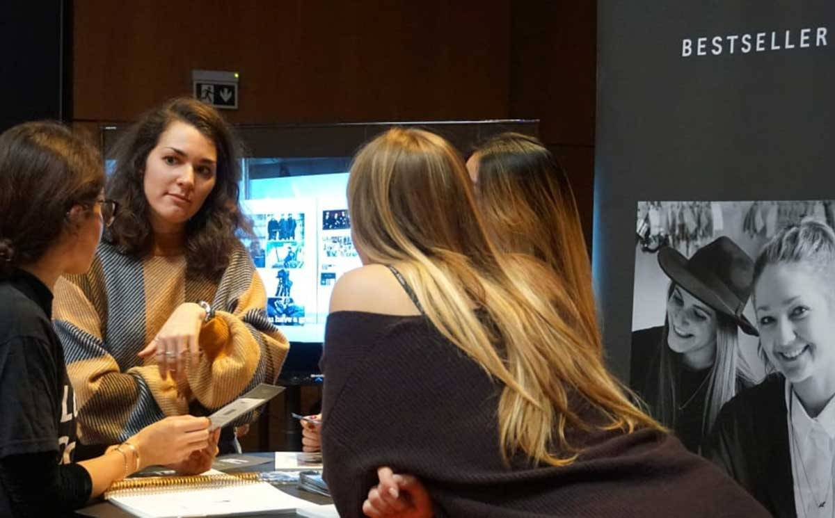 Students network with major brands at the LCF Careers Fair