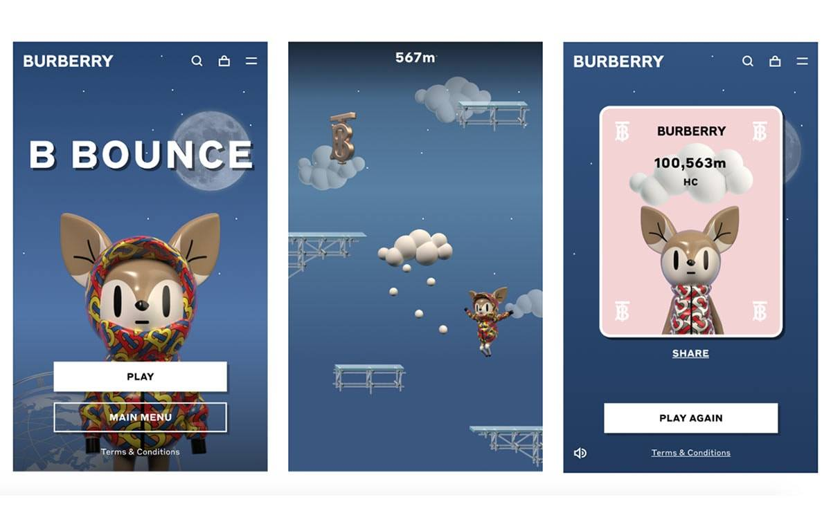 Burberry launches first online game, 'B Bounce'