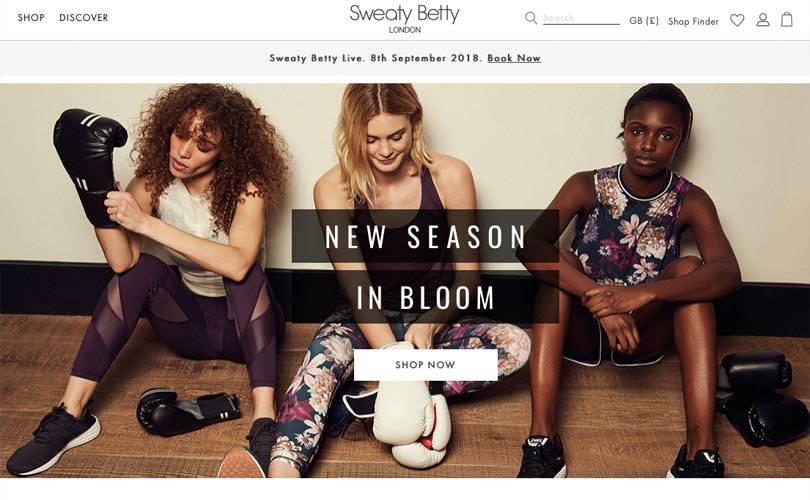 Sweaty Betty unveils new website to enhance shopping experience