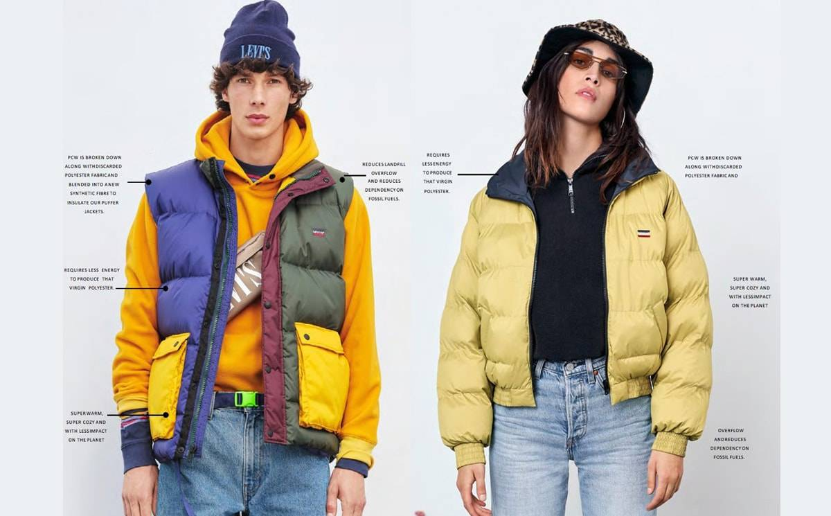 Levi's launches recycled puffer jackets
