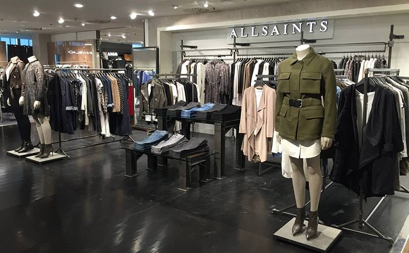 AllSaints steps foot into Italy with concession opening