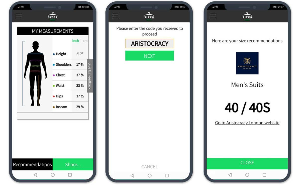 Aristocracy London launches 'digital tailor' app