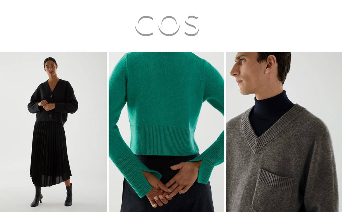 COS LAUNCHES CASHMERE COLLECTION USING TRACEABLE AND RECYCLED CASHMERE
