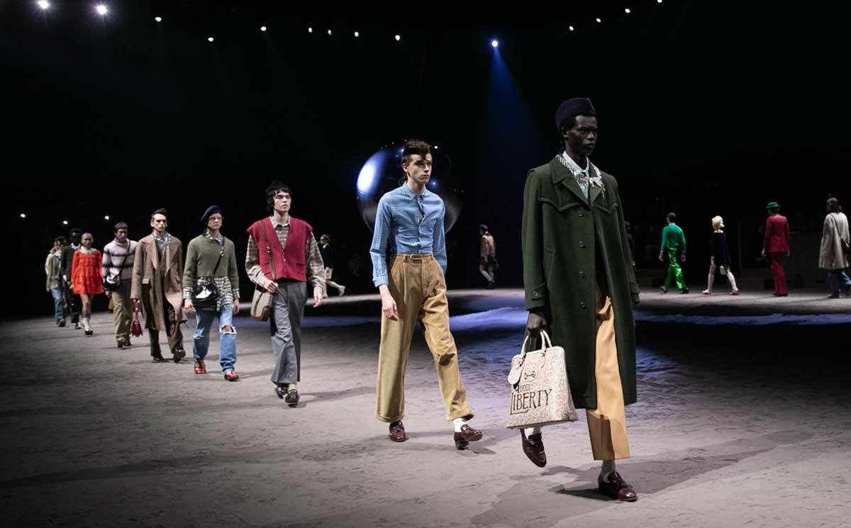 At Gucci, the pendulum swings both ways