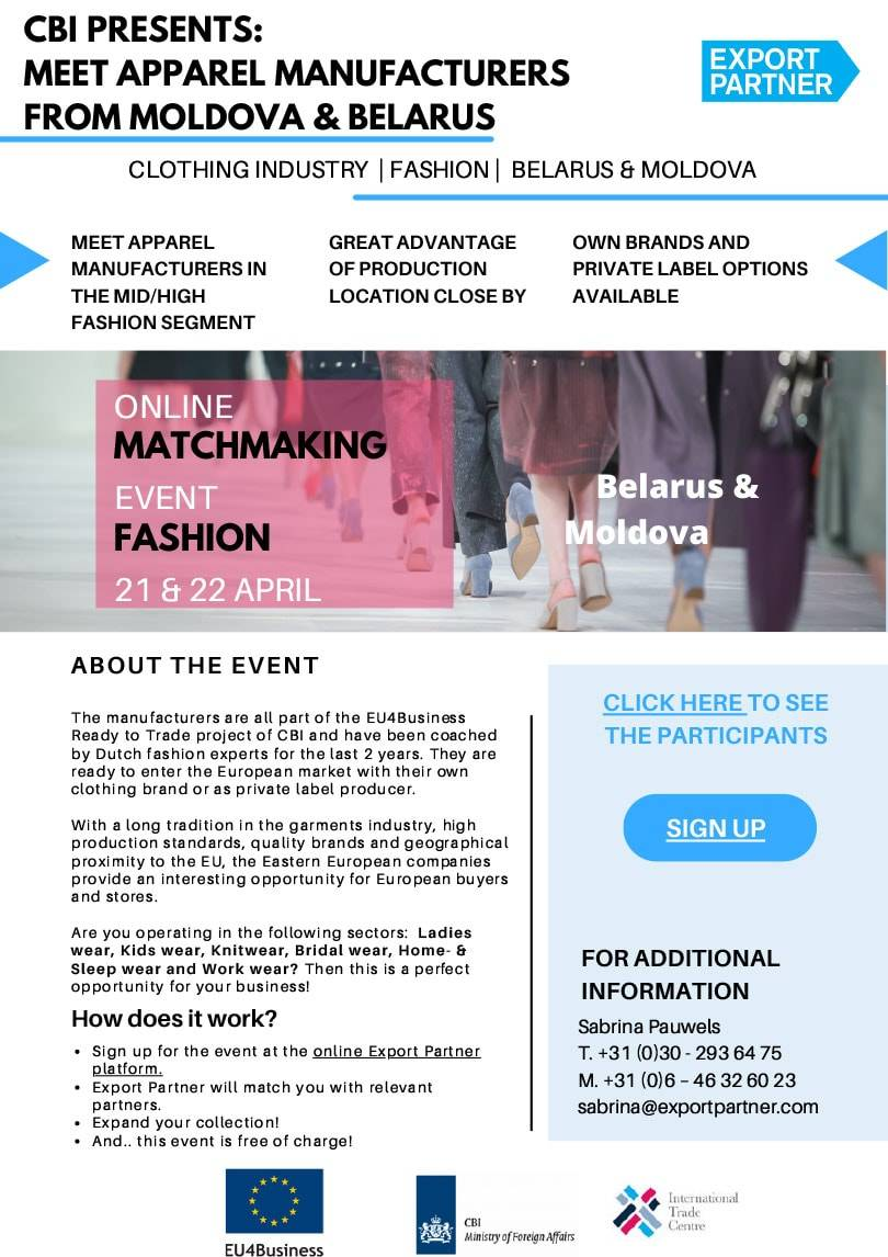 Online matchmaking for fashion brands from Belarus and Moldova