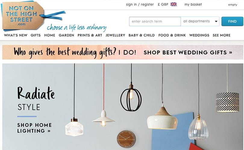 Notonthehighstreet seeks to raise 25 million pounds for expansion scheme