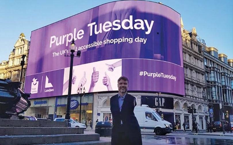 Retailers 'go purple' in support of disabled customers