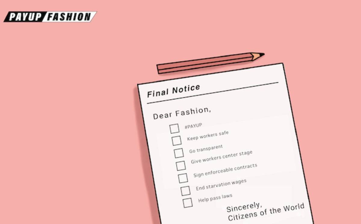 PayUp Fashion initiative launches to secure industry's future