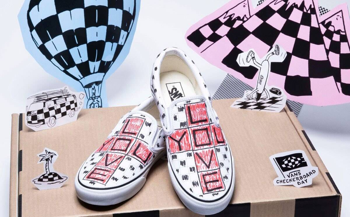 Vans global ambassadors design one-of-a-kind auction items to raise funds & celebrate Checkerboard Day