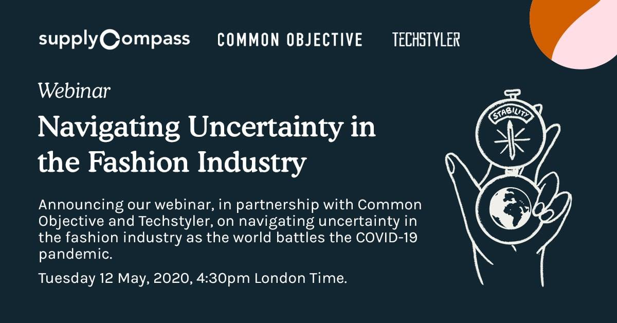 SupplyCompass announces webinar with CO (12 May) on navigating fashion industry uncertainty