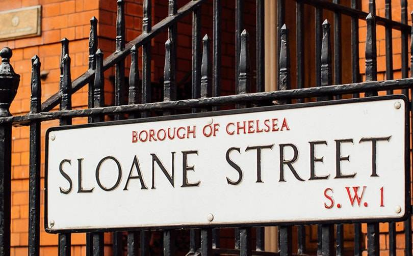 Stores on London's Sloane Street reopen their doors
