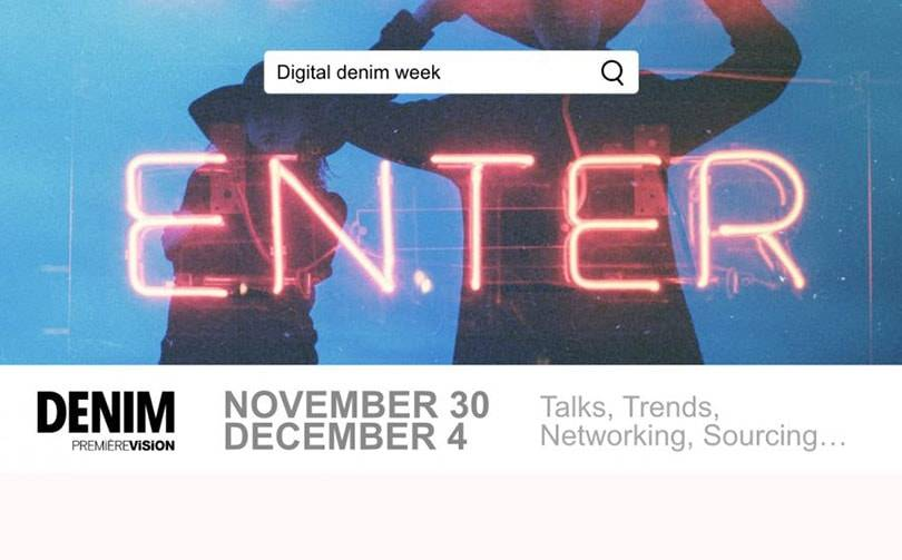 Denim Première Vision launches the Digital Denim Week next 30 November to 4 December 2020