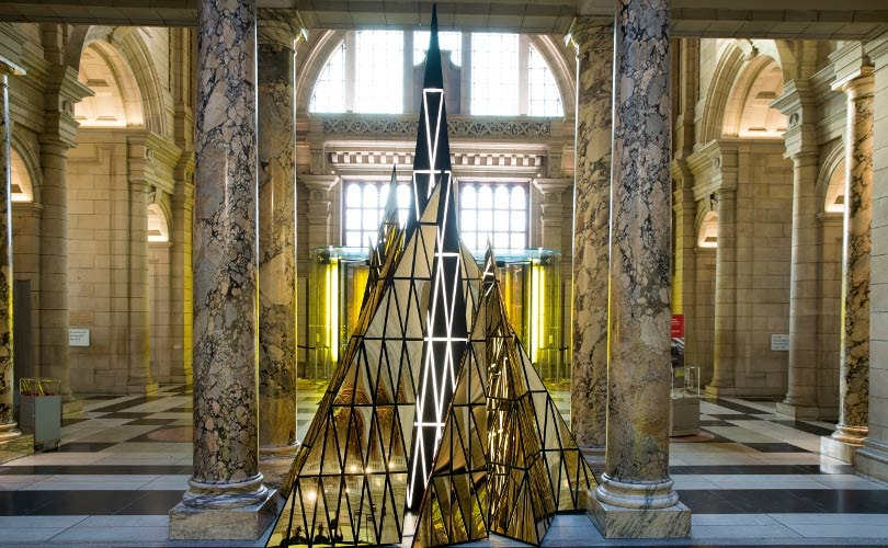 Gareth Pugh designs V&A Christmas installation