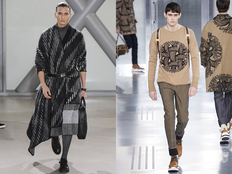 Geometry parade spotted on the catwalks of Paris men's fashion week
