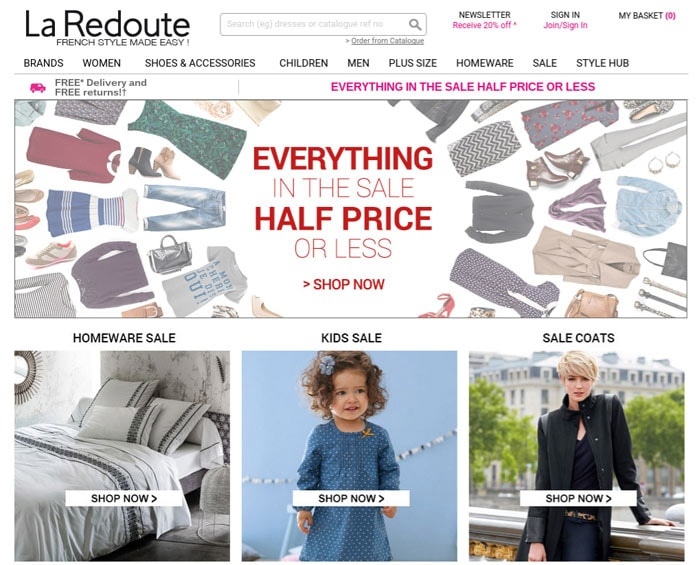 la redoute to relaunch in the uk following marketing overhaul. Black Bedroom Furniture Sets. Home Design Ideas