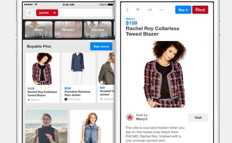 Pinterest to introduce 'buyable' pins