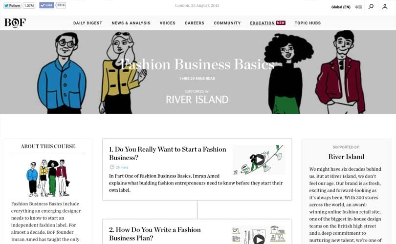 Business of Fashion launches online fashion courses