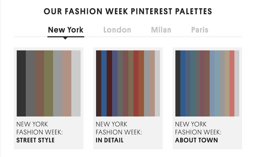 Topshop teams up with Pinterest to launch 'Pinterest Palettes'