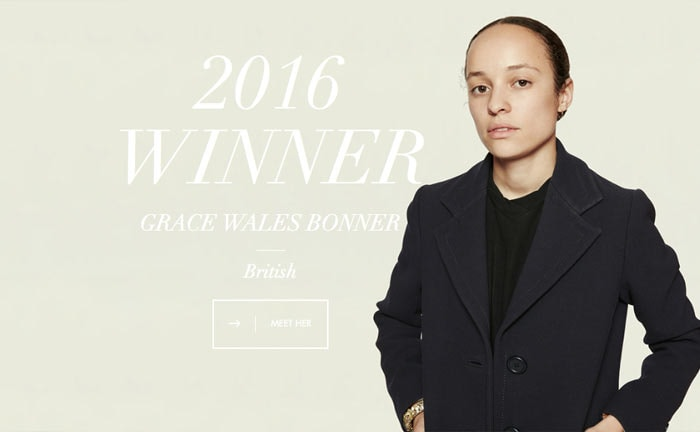 grace wales bonner wins the 2016 lvmh prize. Black Bedroom Furniture Sets. Home Design Ideas