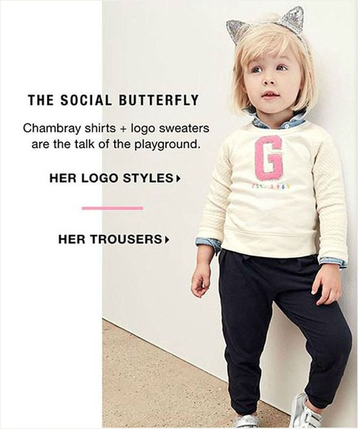 Gap branded sexist for latest childrenswear ad