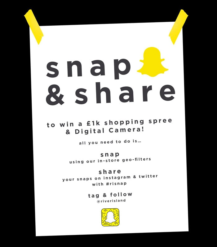 River Island teams up with Snapchat for new campaign