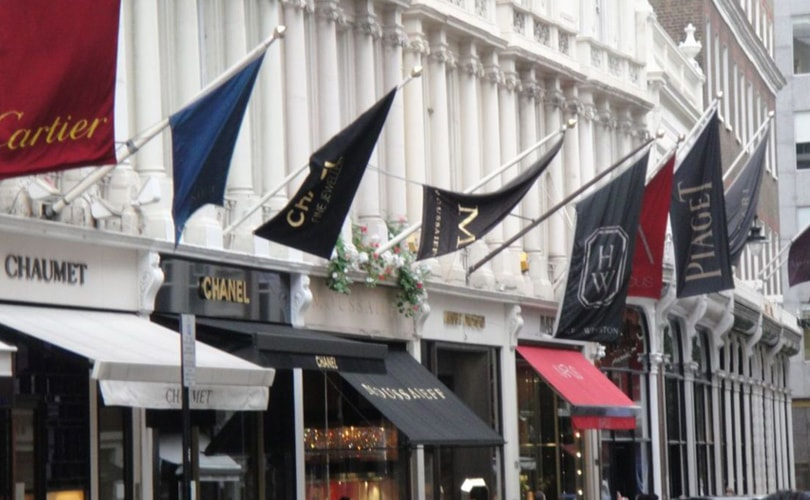 Luxury brands battle for London's prime retail locations