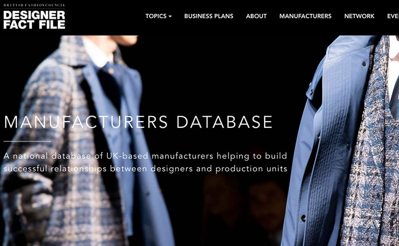 British Fashion Council launches high-end manufacturers database