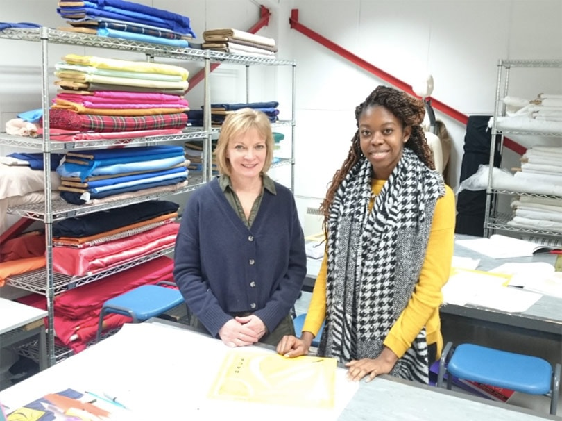 How can the fashion industry support students during technical education?