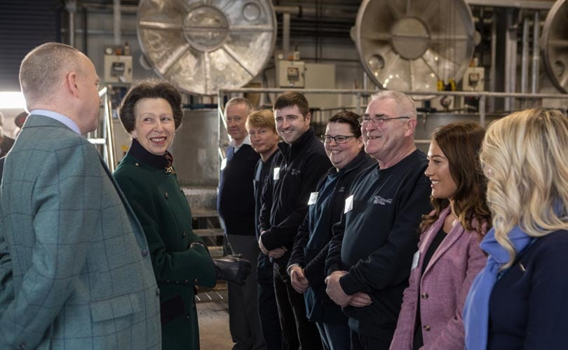 HRH The Princess Royal visits leading UK textile manufacturers as President of UKFT