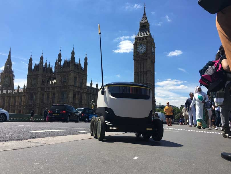 Hermes trials self-driving robots in London
