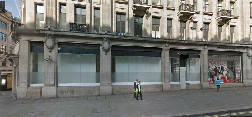 flagship store on Regent Street ahead
