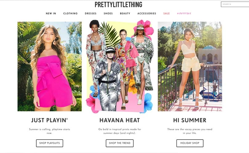 PrettyLittleThing named the fastest growing online fashion retailer