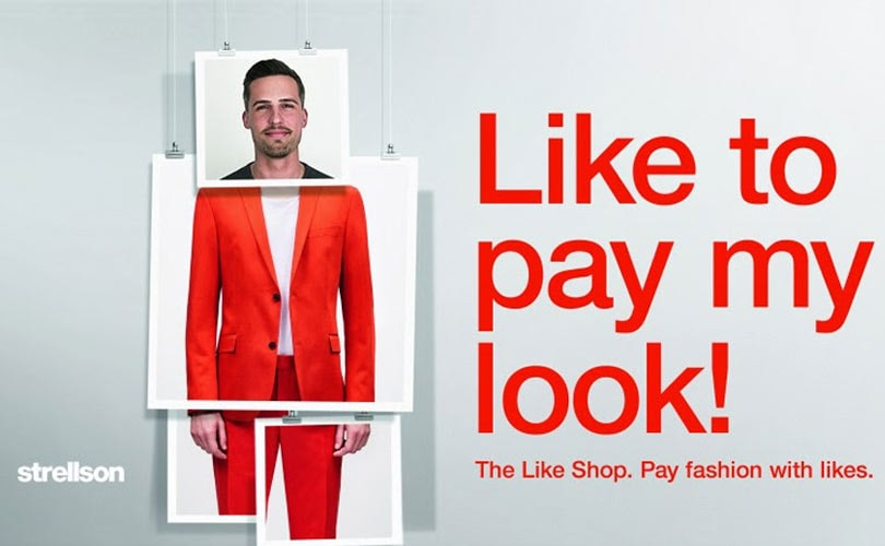 Pay using Facebook Likes at Strellson's 'Like Shop'