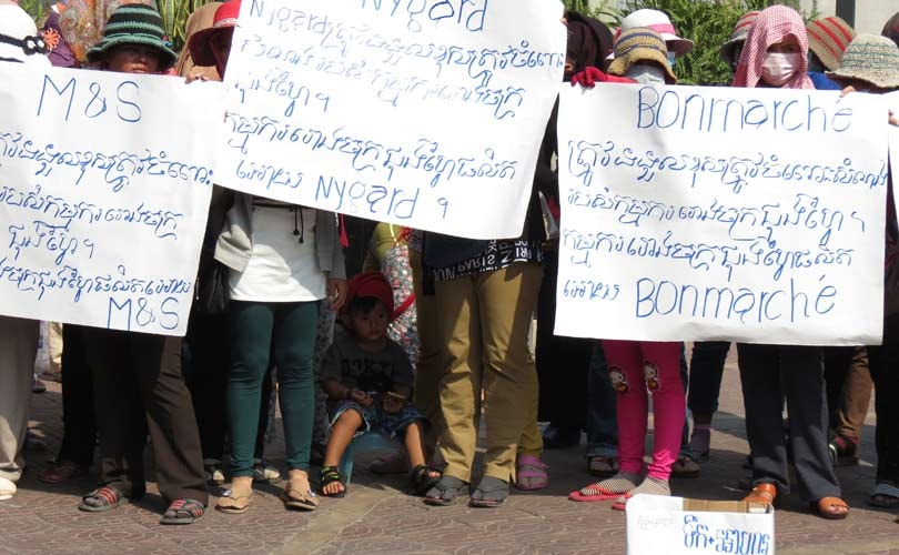 M&S, Bonmarché & Nygård urged to compensate Cambodian workers