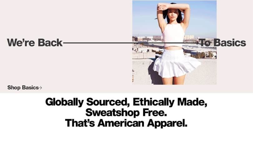 American Apparel relaunch online