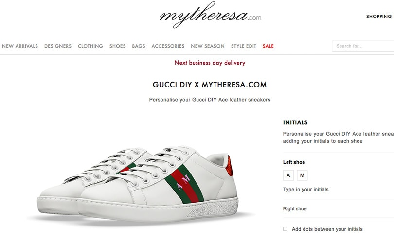 079077a2e8c Mytheresa.com launches Gucci s DIY sneaker service