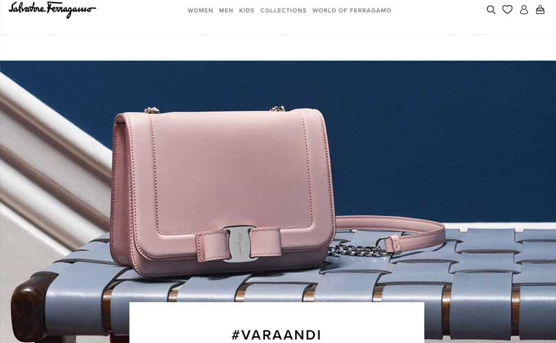 Salvatore Ferragamo new European website goes live