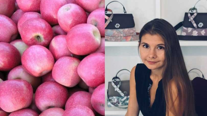 Sustainable textile innovations: handbags made of apples