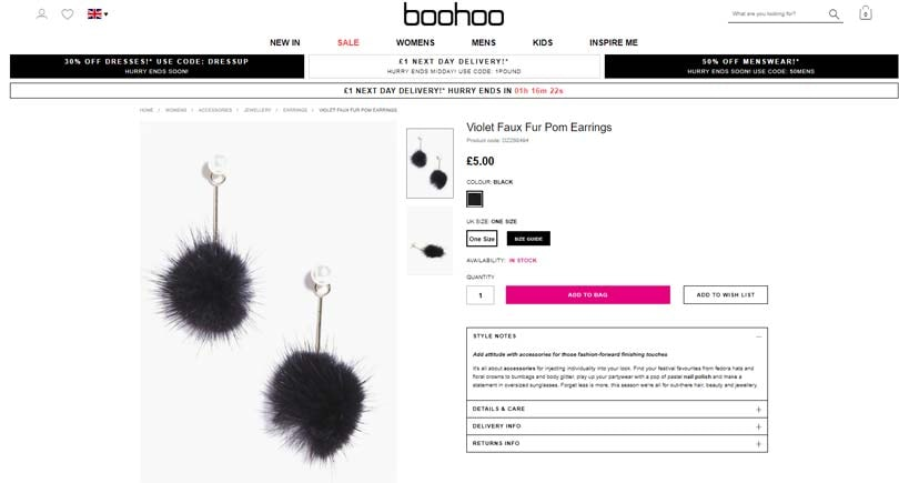 Boohoo & TK Maxx among online retailers selling real fur labelled as fake