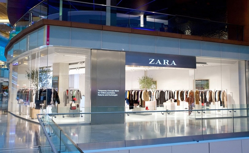 zara launches first pop up store dedicated to online. Black Bedroom Furniture Sets. Home Design Ideas