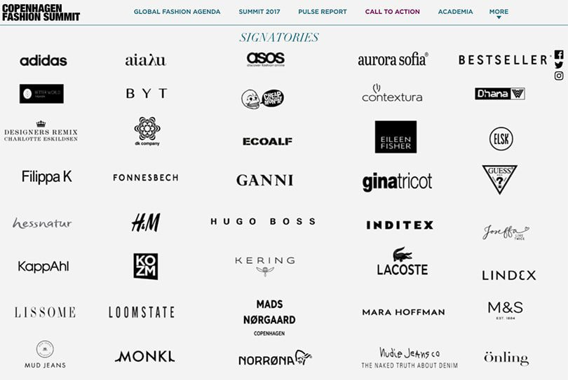 64 Brands set 143 Targets for a Circular Fashion Future