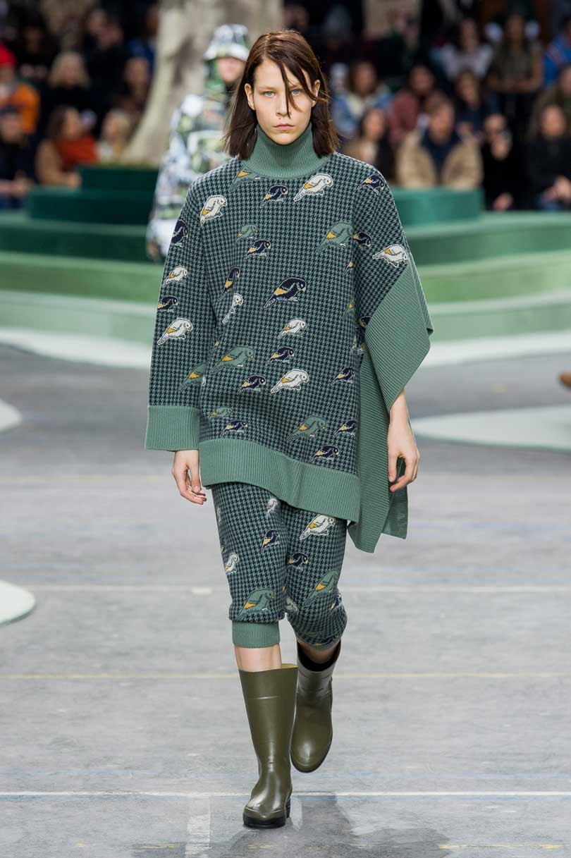 Lacoste swaps its crocodile for logos of endangered species during PFW
