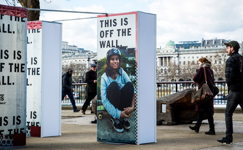 Vans unveils 'This is Off The Wall' campaign installation at Southbank, London