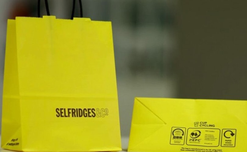 Selfridges to recycle coffee cups to make shopping bags
