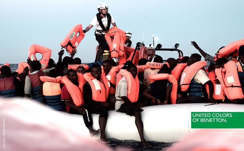 Benetton criticized for campaign depicting migrants being rescued e46c16f73ac