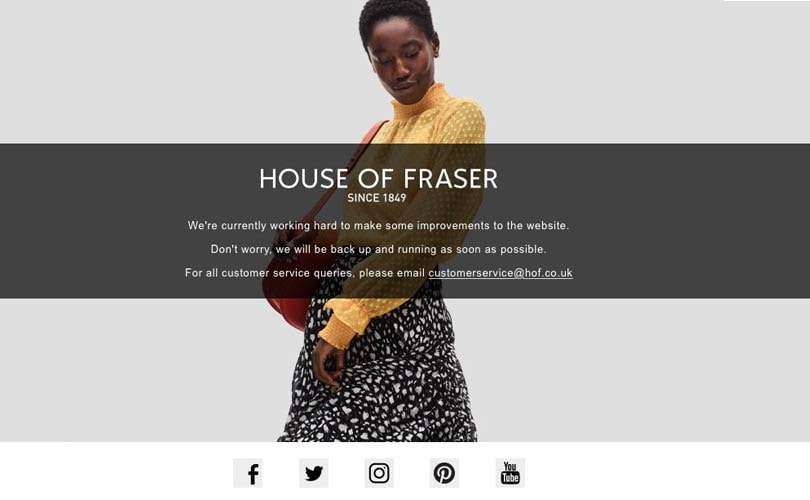 House of Fraser re-opens two distribution centers