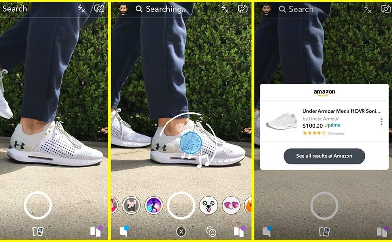 Snapchat teams up with Amazon to launch visual search tool