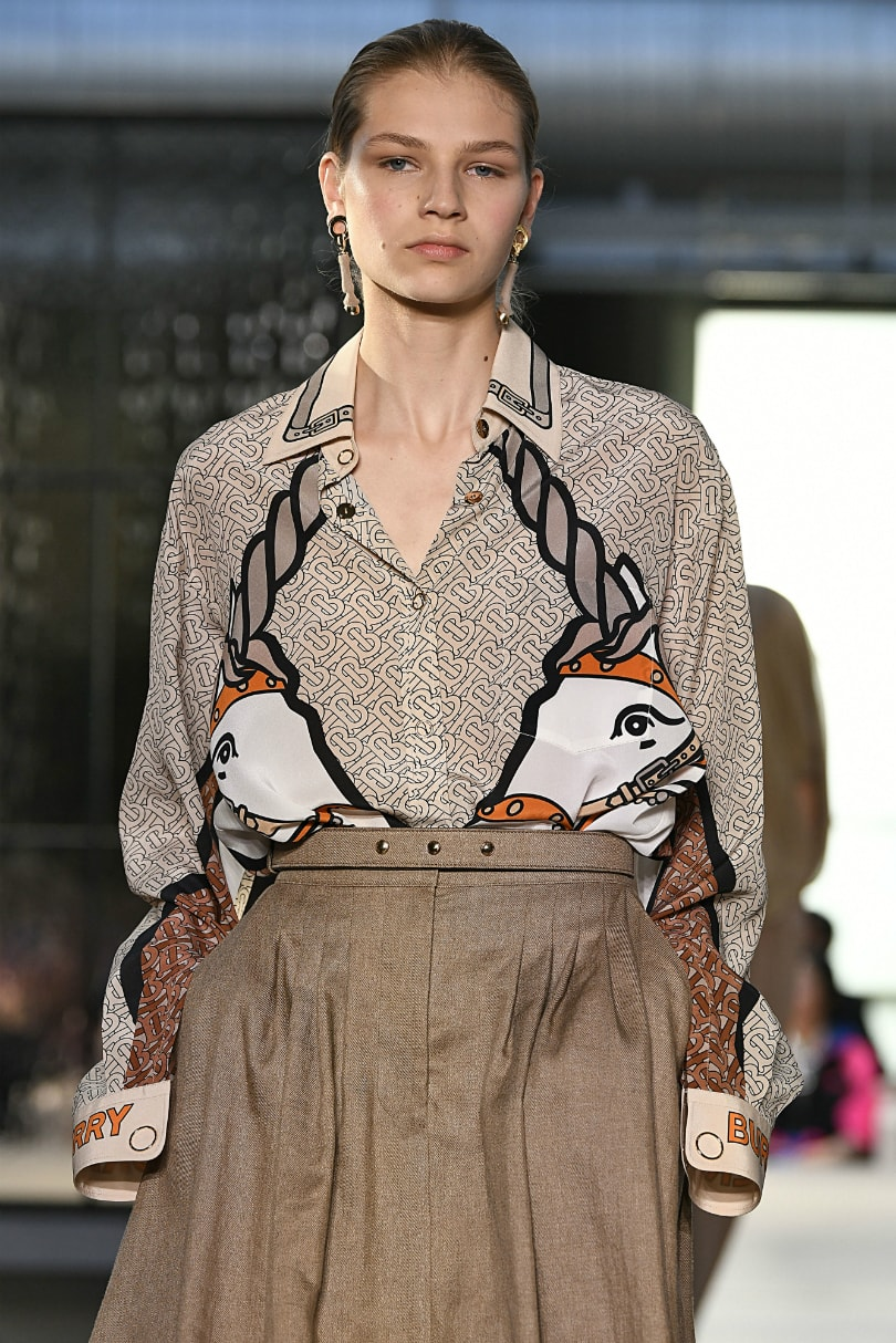 2d49efbce641 Burberry s new star shows off debut collection in London