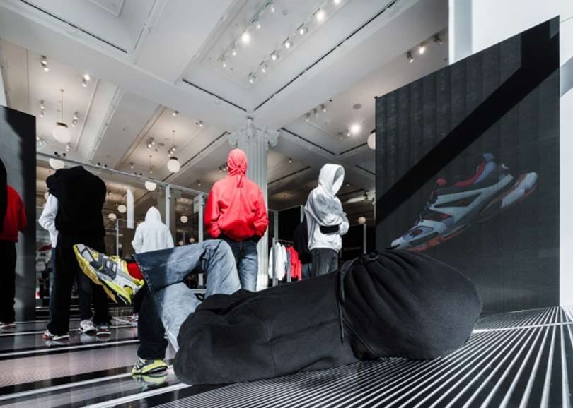 "Balenciaga criticized for ""homeless chic"" window display at Selfridges"