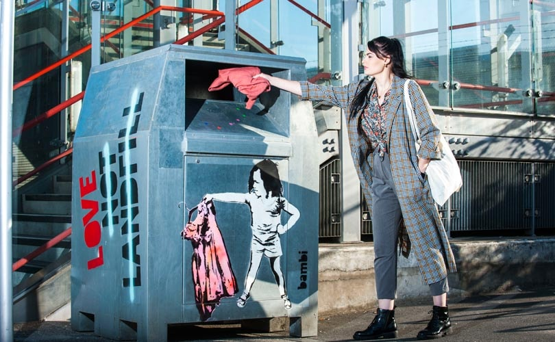#LoveNotLandfill launches Bambi designed clothes banks